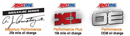 Amsoil has 3 levels of performance oils
